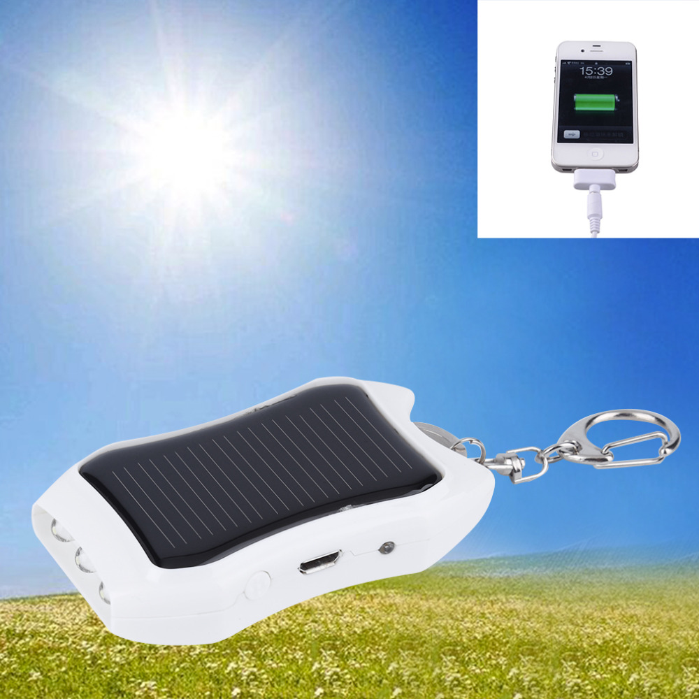 1200mAH Solar Keychain Solar Charger Mobile Power Supply Energy Saving Charger/Battery Power Bank For white hot new(China (Mainland))