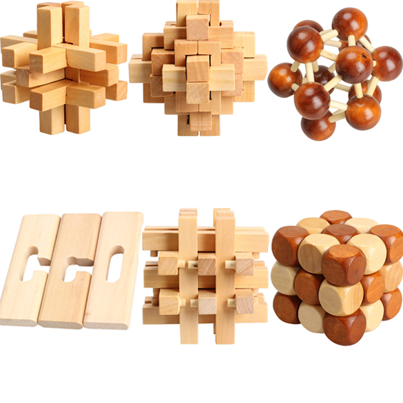 Hot Chinese Traditional Wooden Adult Children Puzzle Intelligence Education Toy EMS DHL Free Shipping Mail(China (Mainland))