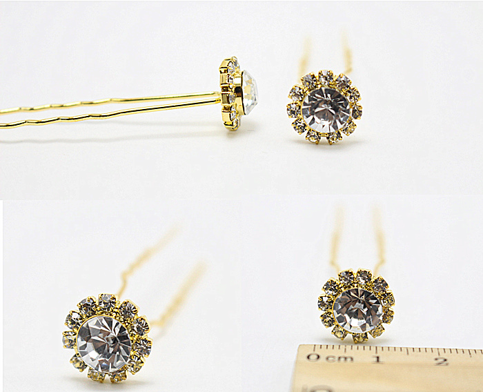 40pc/lot Wedding Bridal Hair Pins Flower 11+1 Rhinestone Hair Clips Bridesmaid Jewelry hairpin Wholesale CZ-JD31(China (Mainland))