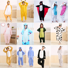 Hot Unisex Adult Flannel Pajamas Adults Cosplay Cartoon Cute Animal Onesie Pyjama Sets Sleepwear Panda /Giraffe/Unicorn/Tiger