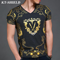 2016 top fashion printed men t shirts summer streetwear cotton men t shirt tops tees short