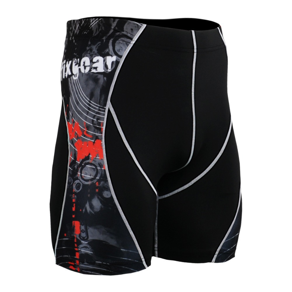 4 Way Stretch Men's Running Shorts Quick Dry Breathable Fitness Clothing Set Workout Compression Tights P2SB30