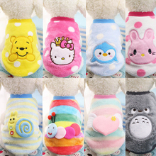 Buy Winter Cartoon Puppy Vest Clothing Soft Warm Flannel Dog Clothes Small Medium Dog Cat Pet Coat XXS-XXL for $1.42 in AliExpress store