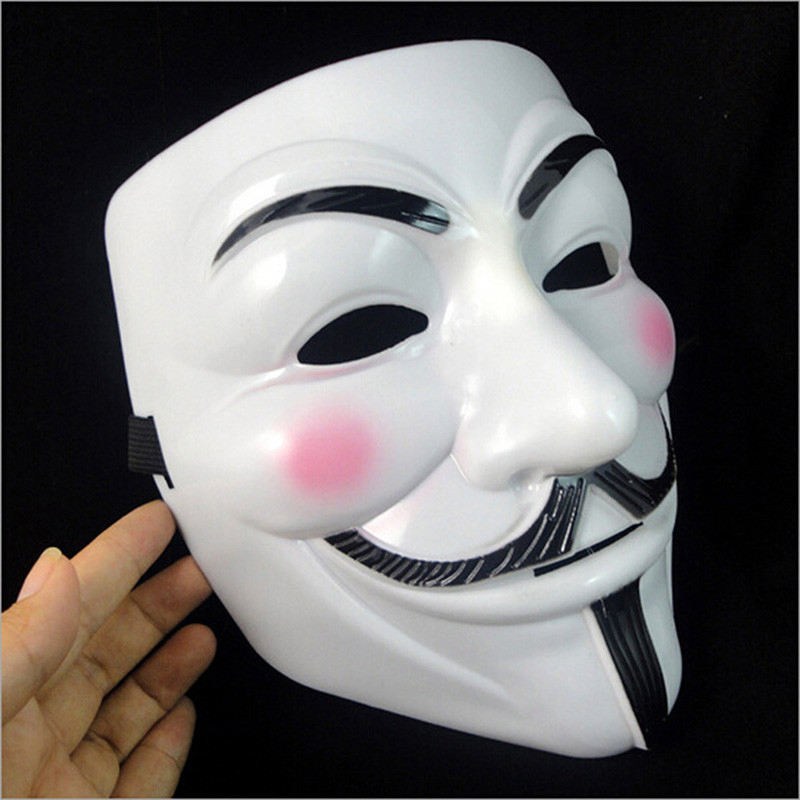 V Vendetta Party Cosplay masque Mask Anonymous Guy Fawkes Fancy Dress Adult Costume Accessory macka mascaras halloween - AIHOME Direct Store store
