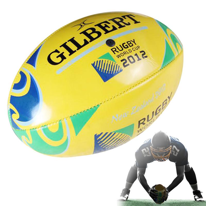 Quality PU Traditional Milk yellow Style English Football Ball Rugby Size 9 British Training Ball Machine Sewing(China (Mainland))