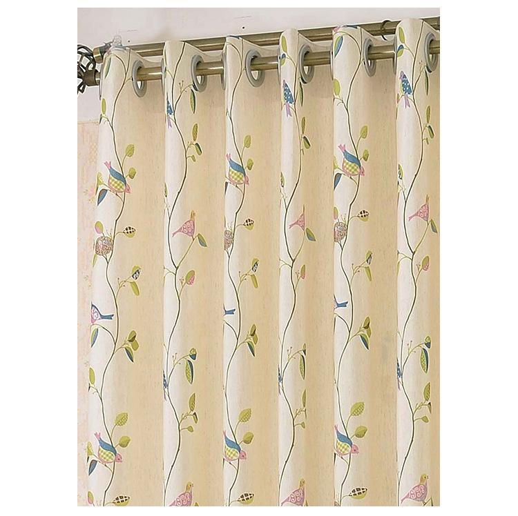 Cotton print curtain of the new living room bedroom window curtain fabrics Half shading (40% 70%)