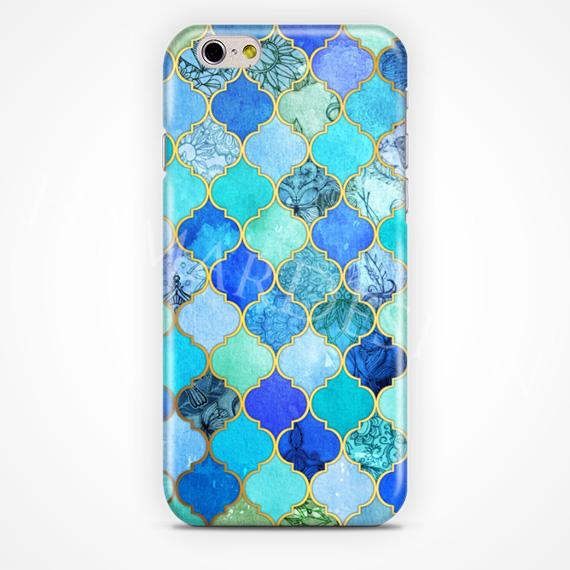 cobalt blue aqua decorative moroccan case 3D phone case for iPhone 6 6 plus(China (Mainland))