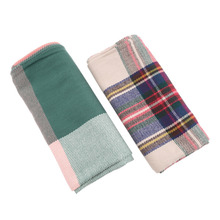 Women Winter Blanket Oversized Tartan Scarf Plaid Checked Wrap Shawl Bloggers Favourite Big Sale