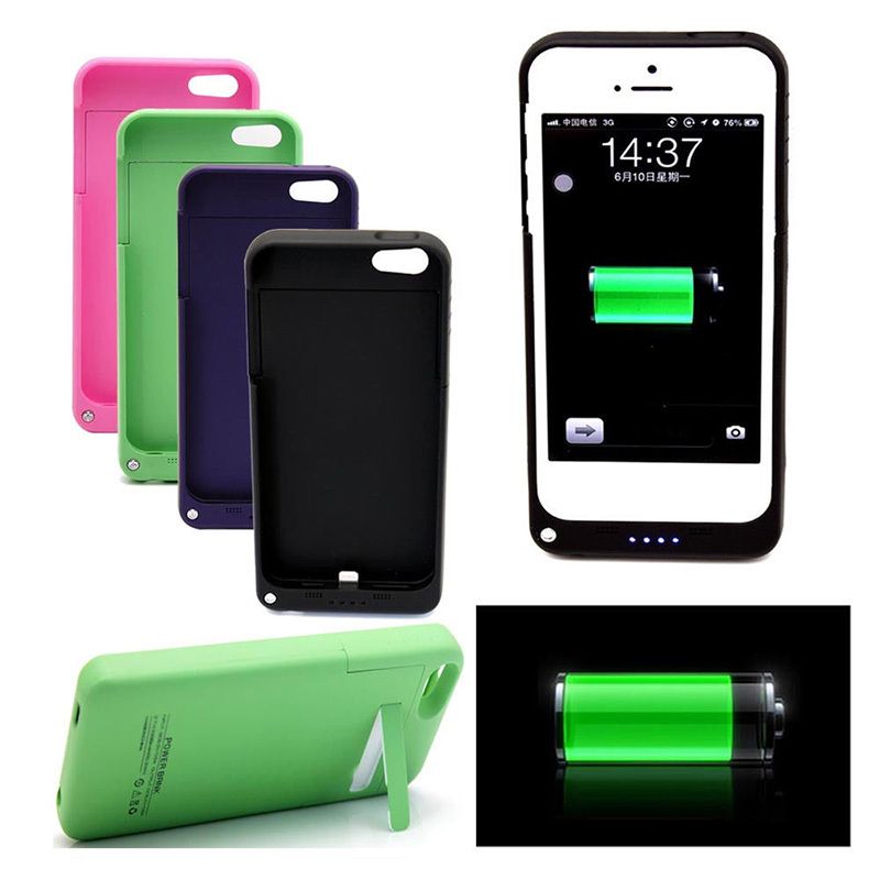 Rechargeable Battery Backup Charger Case Cover Pack Power Bank Apple iPhone 5 /5s 2200mAh L014144 - guomin yang's store