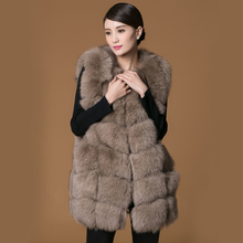 Real fur fox coat jacket vest women's gril short style o-neck Very popular ten color Quality will not lint