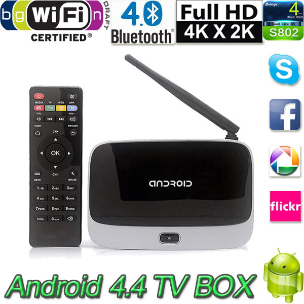 High quality Android 4.4 TV Box Media Player Quad Core 2GB/16GB with Remote Control XBMC WiFi 1080P CS918 Tv Receivers(China (Mainland))