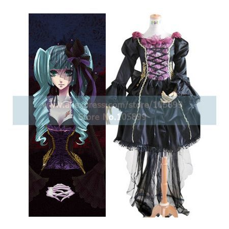 Vocaloid Miku Doujin Cosplay Costume   Одежда и ак�е��уары<br><br><br>Aliexpress