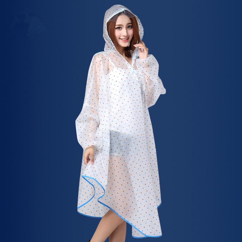 Fashion Spotted Girl Women's Women Long Sleeve Bike Rain Coat Rain Jacket Portable Rainwear Waterproof Raincoat Rain Gear Poncho