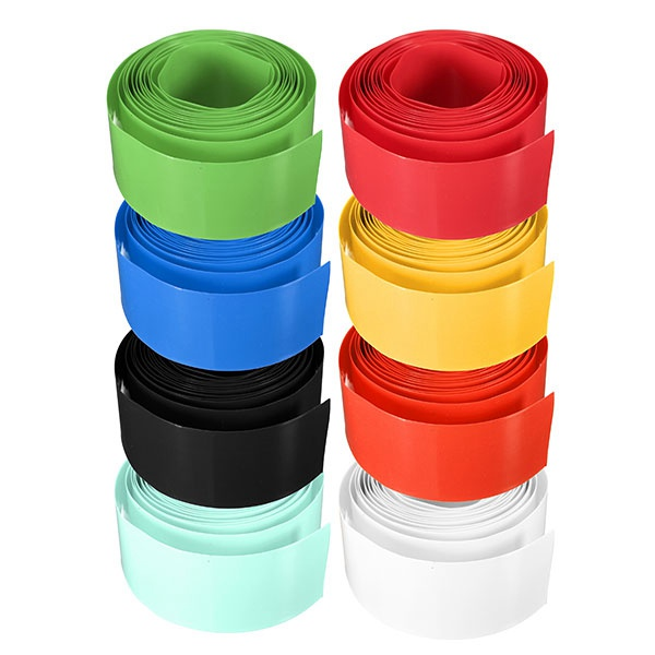 Hot Sale!!!Retail High Quality Professional Colorful 29.5MM 18.5MM PVC Heat Shrink Tubing For 18650 18500 Battery 2m(China (Mainland))
