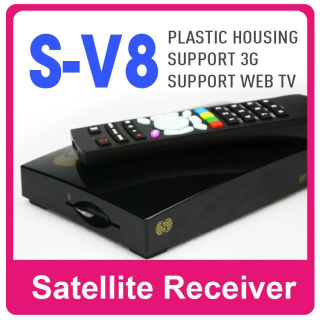 10pcs Original Skybox S-V8 1080p Full HD Digital Satellite Receiver/ TV Box Support 2 USB WEB TV Card Sharing 3G modem Youtube(China (Mainland))