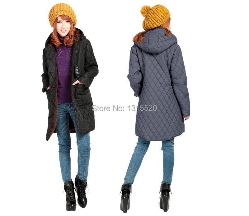 Coats new winter women's hooded cotton outwear coat added fat 6XL elderly mom padded velvet coats thick jacket long middle-aged(China (Mainland))