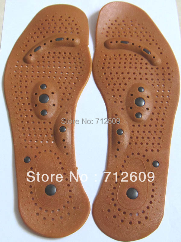 New Arrival Insole Magnetic Therapy Magnet Health Care Foot Massage Insoles Men/ Women Shoe Comfort Pads(China (Mainland))