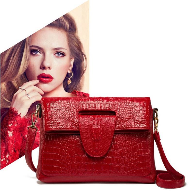 Sales promotion!fashion crocodile Leather Bag Women Handbags Brand Women Messenger bags designer Women Bag Ladies Crossbody bag(China (Mainland))