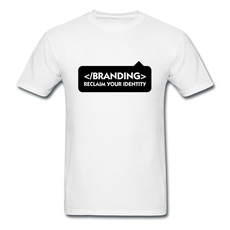 Dropshipping Round Neck Teeshirt Mens Stop Branding Reclaim Identity Custom Logo Teeshirts for Men Regular Style(China (Mainland))