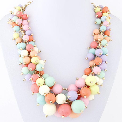 product Fashion Accessories Retro Exaggerated Adorn Article Belong To The Joker Candy Grape Temperament Of Beads Necklace