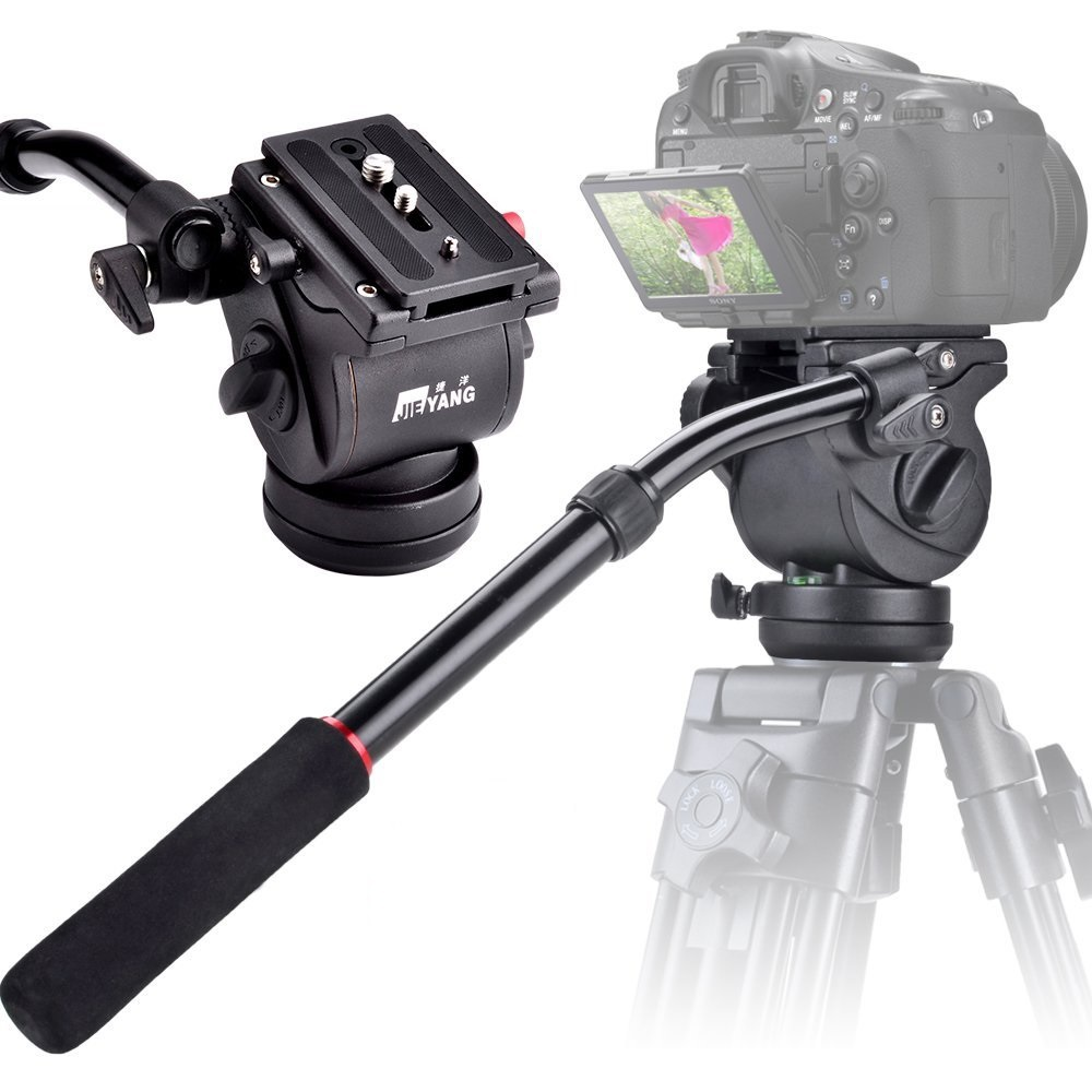 JIEYANG 2015 Professional JY0506H video tripod fluid head monopod DSLR Camcorder Drag slider rail Handle Head Photography<br><br>Aliexpress