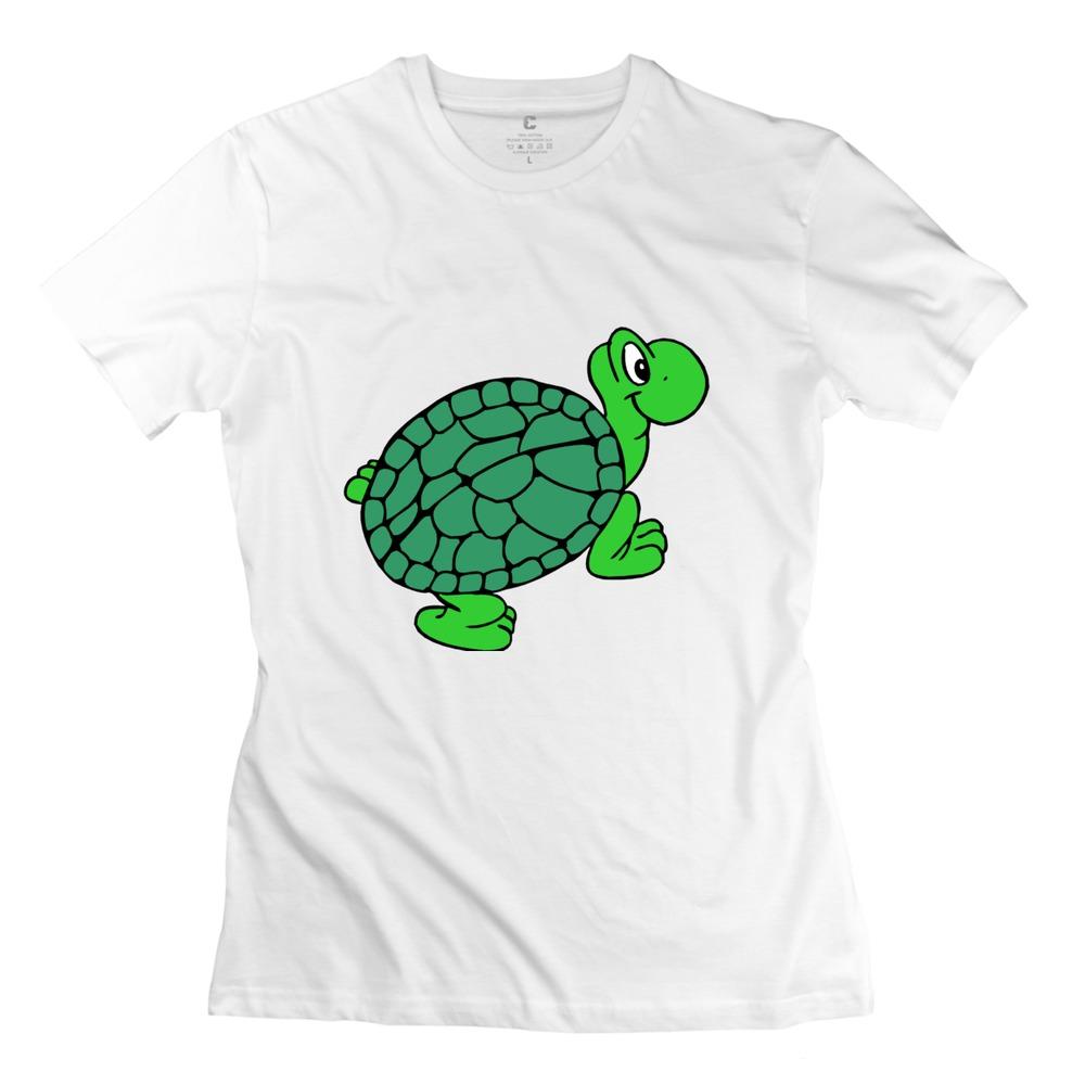2015 Brand Green Turtle Lady's tshirt Modern Short Sleeve 100% Cotton Girlfriend t shirts Hot Selling(China (Mainland))