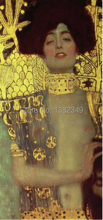 Cuadros Decoracion Quadros De Parede Real Canvas Painting free Shipping Gustav Klimt Decorative Prints Oil Picture Printed On(China (Mainland))