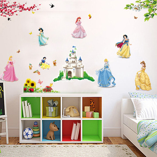 Wall Cartoon The Bedroom Of Children Room Background Wall Stickers
