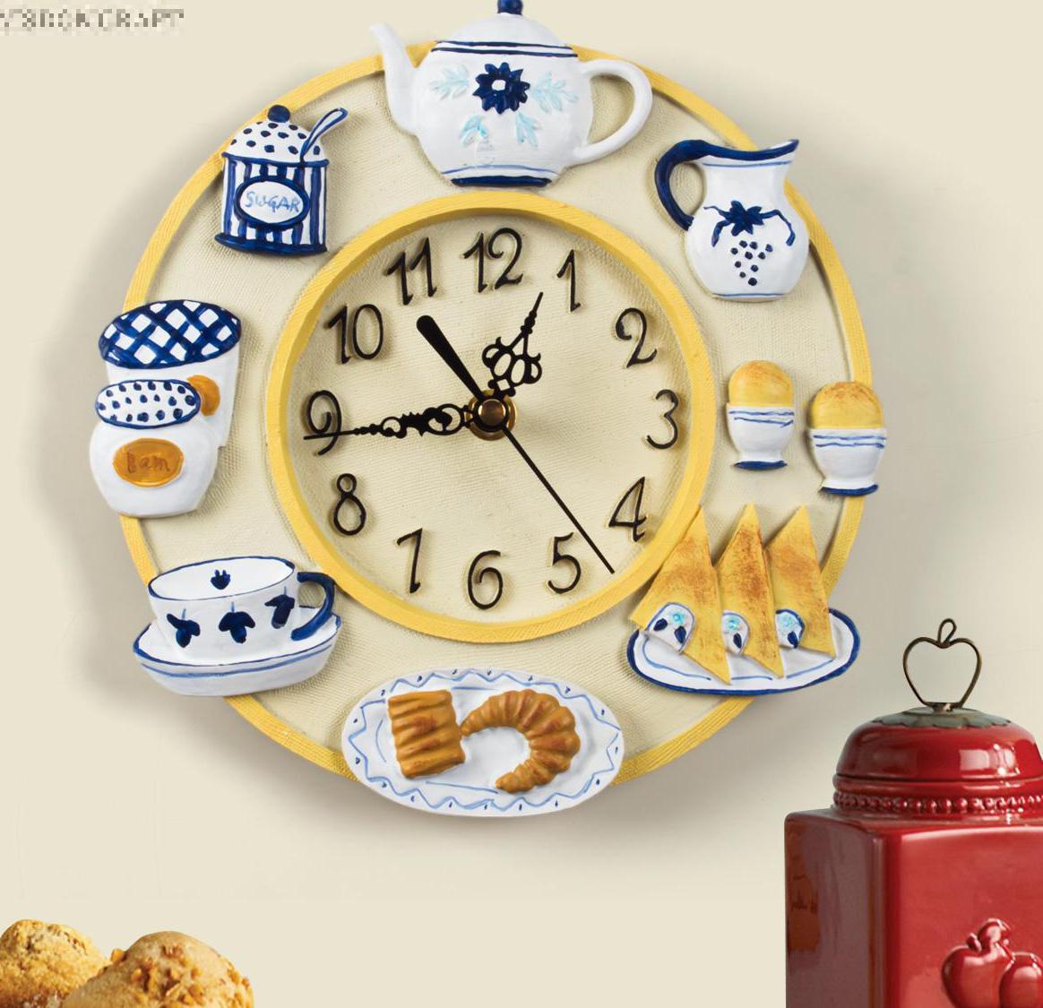 European kitchen lunch restaurant clock small kitchen - Small kitchen clock for wall ...