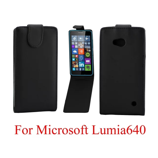 New Hot Top Quality Upper and lower For Microsoft Nokia Lumia 640 Case opening series Cikou Leather Fashion Housing Cover Case(China (Mainland))