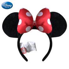 Disney Bichos de pelúcia Brinquedo De Pelúcia Mickey Mouse Minnie Mickey Cocar Faixas de Cabelo Meninas Princesa Cabeça Hoop Brinquedos Presente Do Miúdo(China)