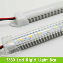 5 pz * Alta luminosità 50 CM DC 12 V 36 SMD 5630 LED luminoso Eccellente disco Rigido LED Strip Light Bar con U guscio In Alluminio + copertura del pc(China (Mainland))