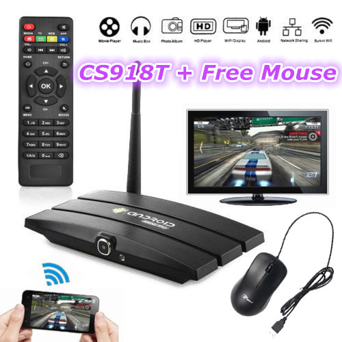 Free Mouse CS918T Android 4.4 TV Box Amlogic s805 1.6GHz Quad core 1G 8GB XBMC/KODI WiFi Bluetooth CS919S T Web camera RJ45(China (Mainland))