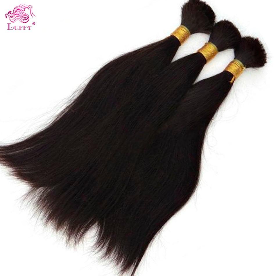 Human Hair For Braiding 10-26 Inch Instock Virgin Brazilian Bulk Hair For Braiding Silk Straight Wholesale Brazilian Human Hair