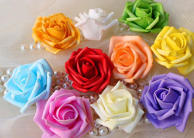 107cm PE Foam Rose heads artificial flowers DIY Wedding Party Home Decorative Simulation supplies - Dong zhongqiang's store