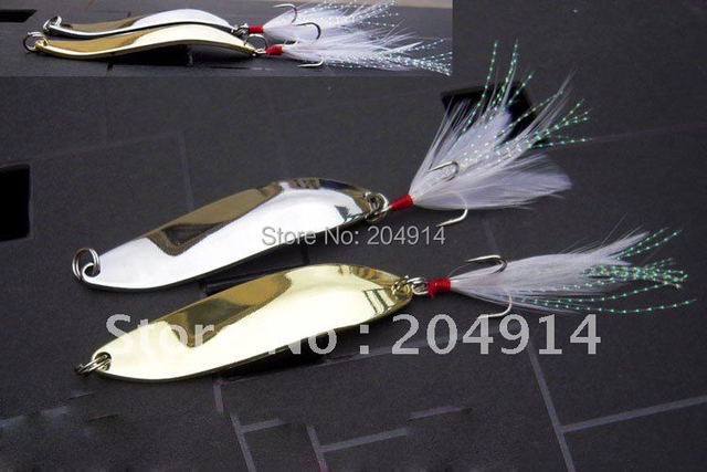 10pcs 7cm/14g metal fishing lure fishing spoons Free shipping
