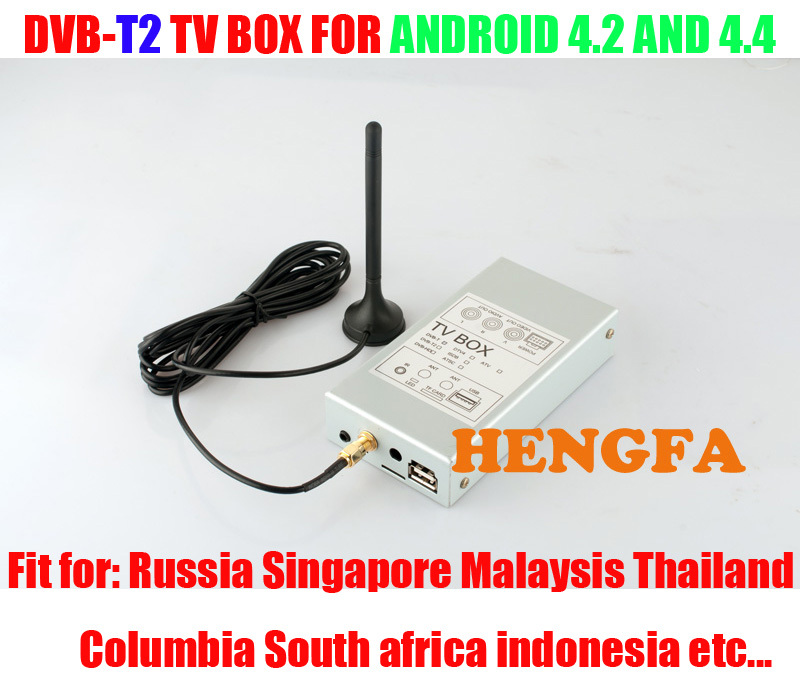 DVB-T2 Car TV Receiver Box Tuners For Pure Android 4.2 /4.4 Car DVD Player For Russia Singapore Malaysia(China (Mainland))
