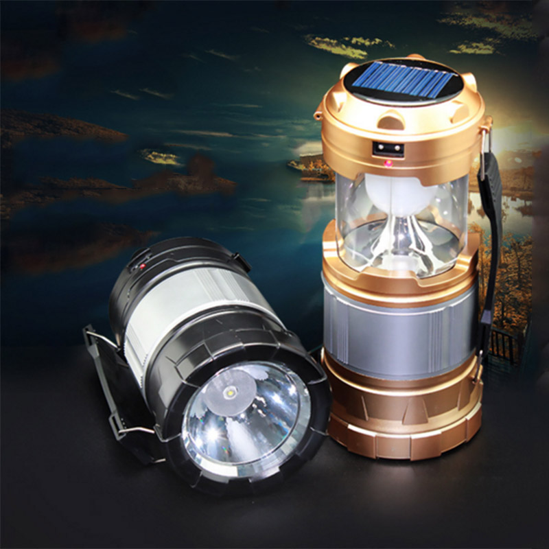 Portable Solar Camping Lantern with USB PowerBank for Hiking Trekking Best Camp Tent Hand Light Best