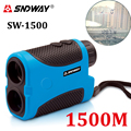 SNDWAY laser rangefinder hunting monocular telescope 1500M astronomic camping golf trena laser meter distance measure with