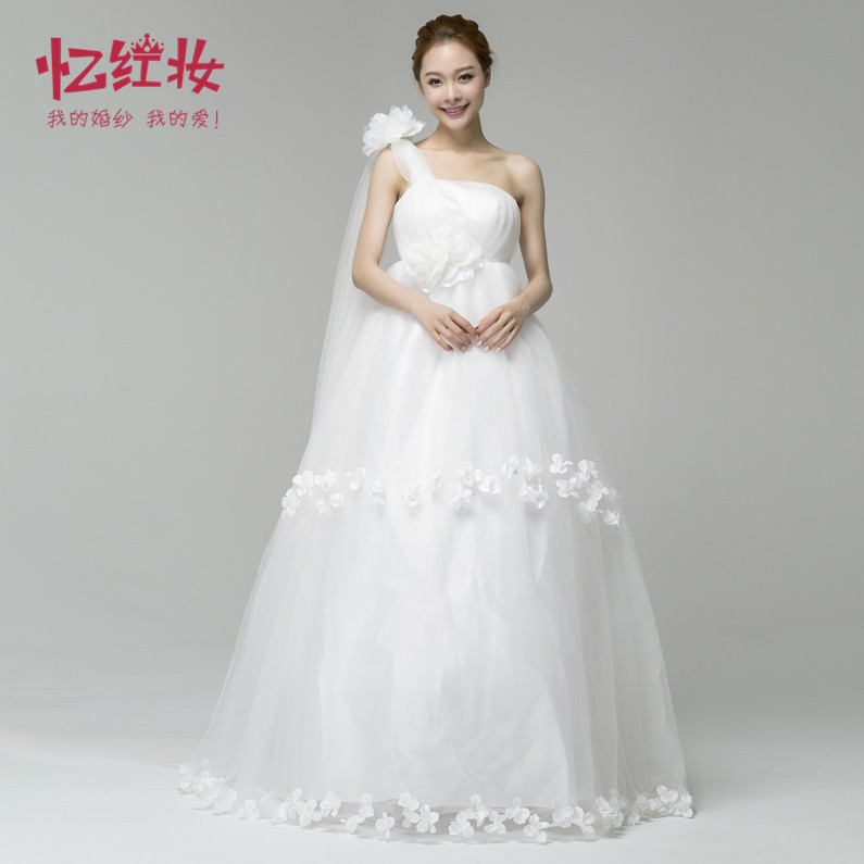 Maternity wedding dress high waist strap bridal plus size for Plus size maternity wedding dresses