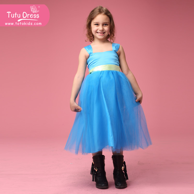 Beach wedding flower girl dress blue tutu dress ocean for Flower girl dress for beach wedding