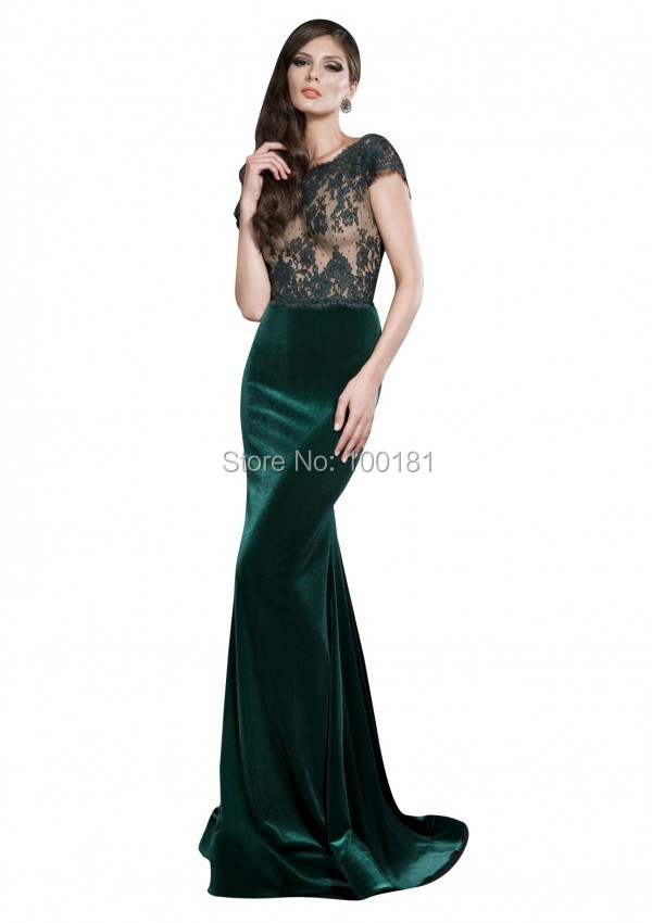 Sexy emerald green dress