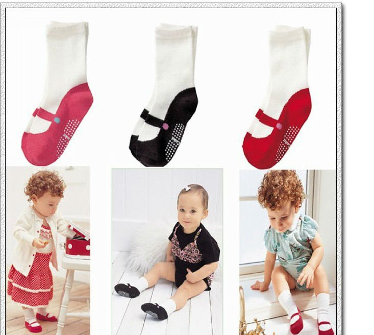 girls children socks tube ballet shoes fit 1-3yrs baby kids non-slip 15pairs/lot 3 colors - sonia hu's store