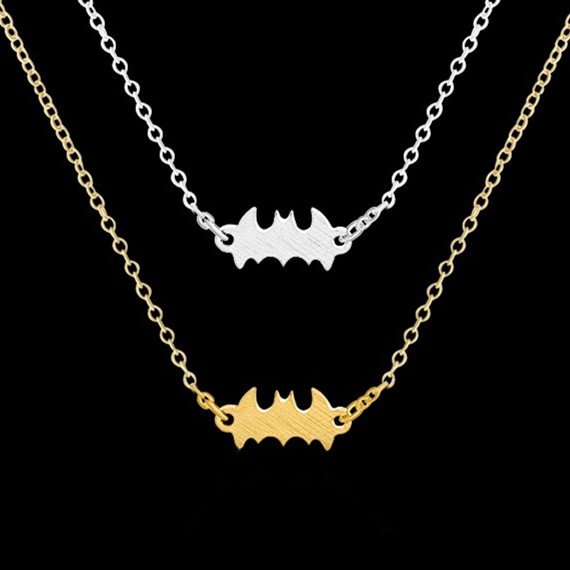 1 2016 Personalized Celebs favorite Simple Batman Charm Pendant Necklace Men Stainless Steel Tattoo Collier Femme - Show Jewelry store