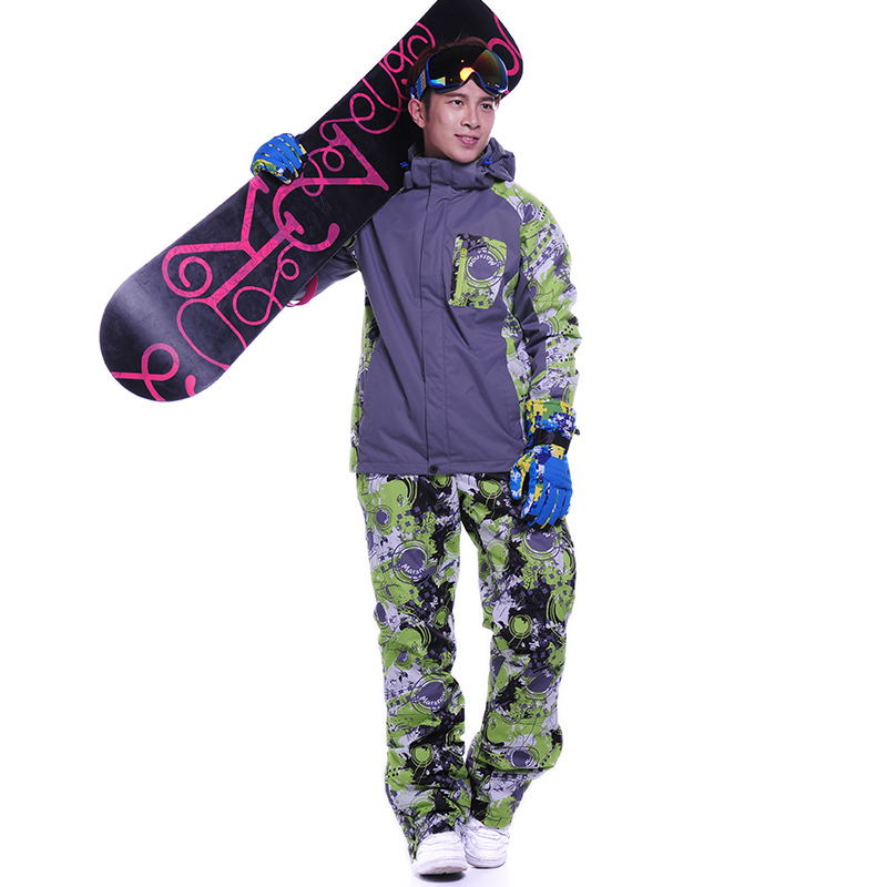 Snowboard jacket and pants Thickening Warm Tracksuits Hoodies+Pants Clothing Sets Sportswear Warm sport winter suit men(China (Mainland))