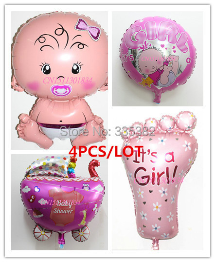 MIS STYLE!!! 4pcs/lot Angel Baby girl and baby car foot Promotion Toy For Wedding Birthday Party Inflatable Foil Balloons(China (Mainland))