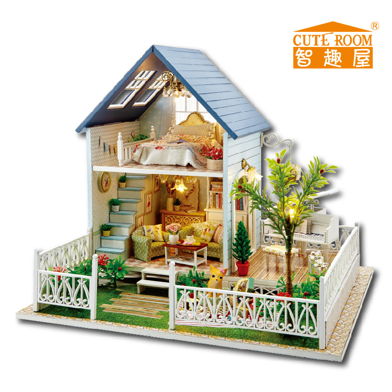 home decoration crafts diy doll house wooden doll houses miniature diy dollhouse furniture kit. Black Bedroom Furniture Sets. Home Design Ideas