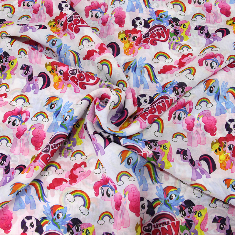 Buy 46318 50 140cm horse chiffon fabric for Horse fabric for kids