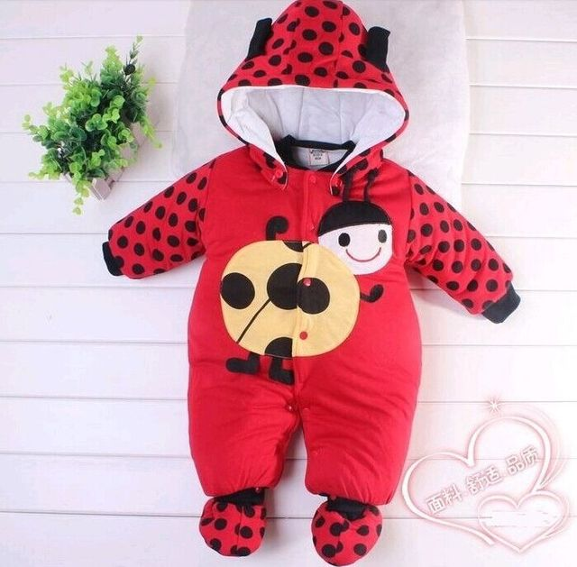 Hotsale baby животных детский! милый зимний унисекс зима корова печати детская одежда