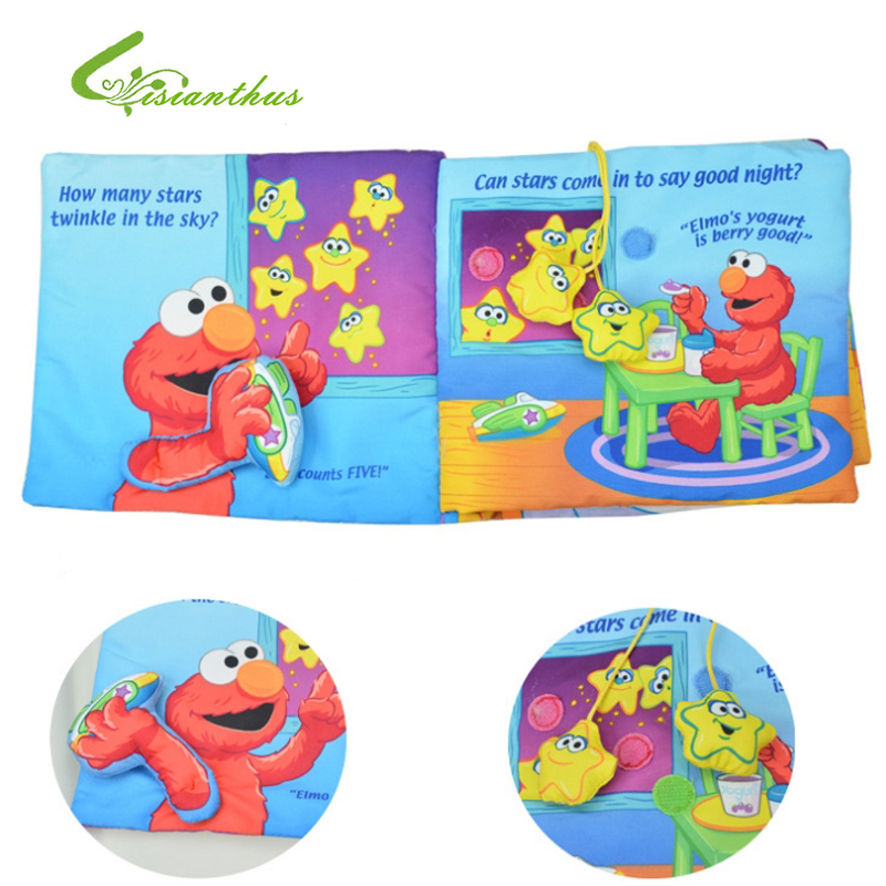 Baby Early Development Cloth Books Babe Educational Toys Boys Girls Twinkle Elmo Soft Book Pre-bedtime Free Drop Ship Wholesale(China (Mainland))